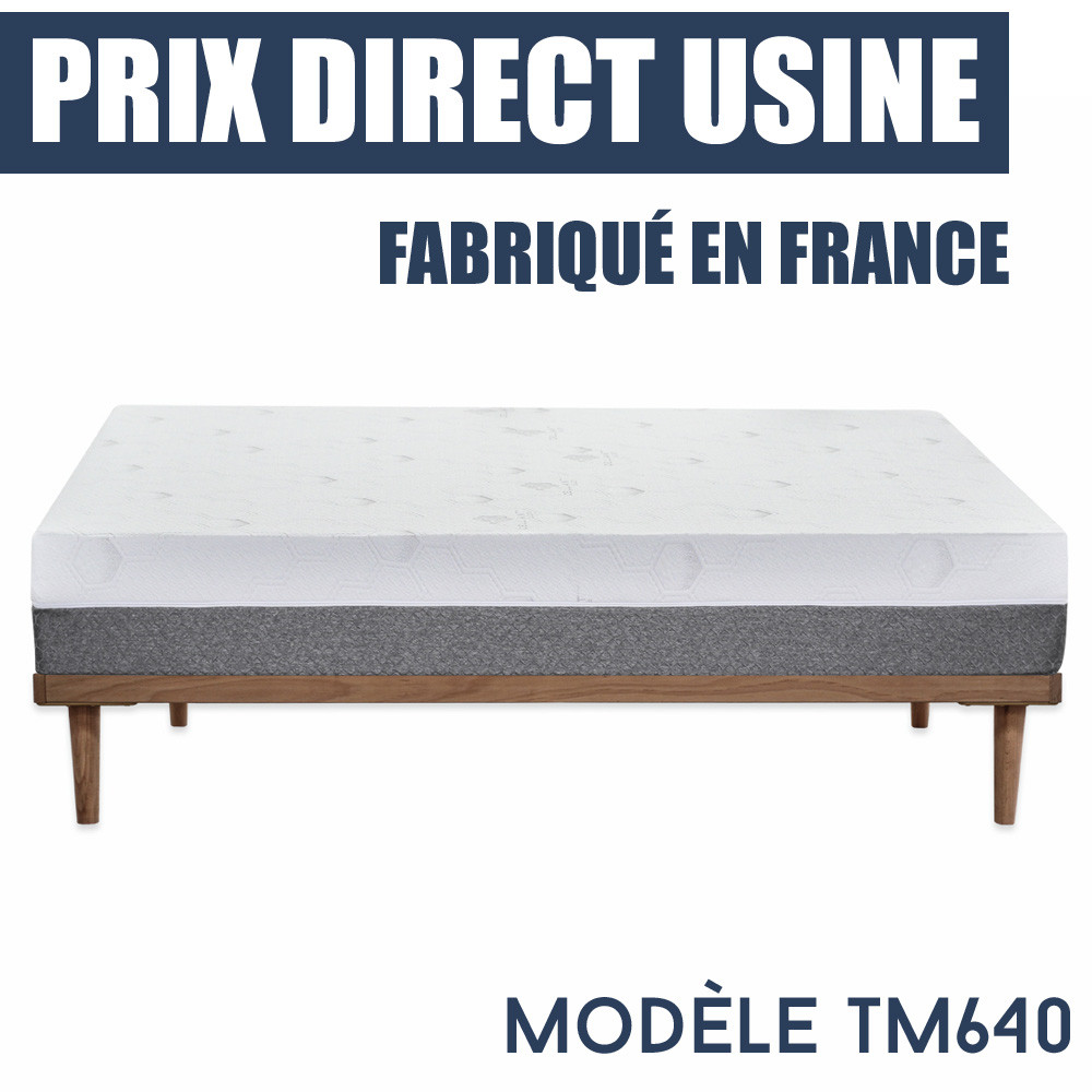 matelas ressorts ensach s et m moire de forme tm640 prix imbattable. Black Bedroom Furniture Sets. Home Design Ideas
