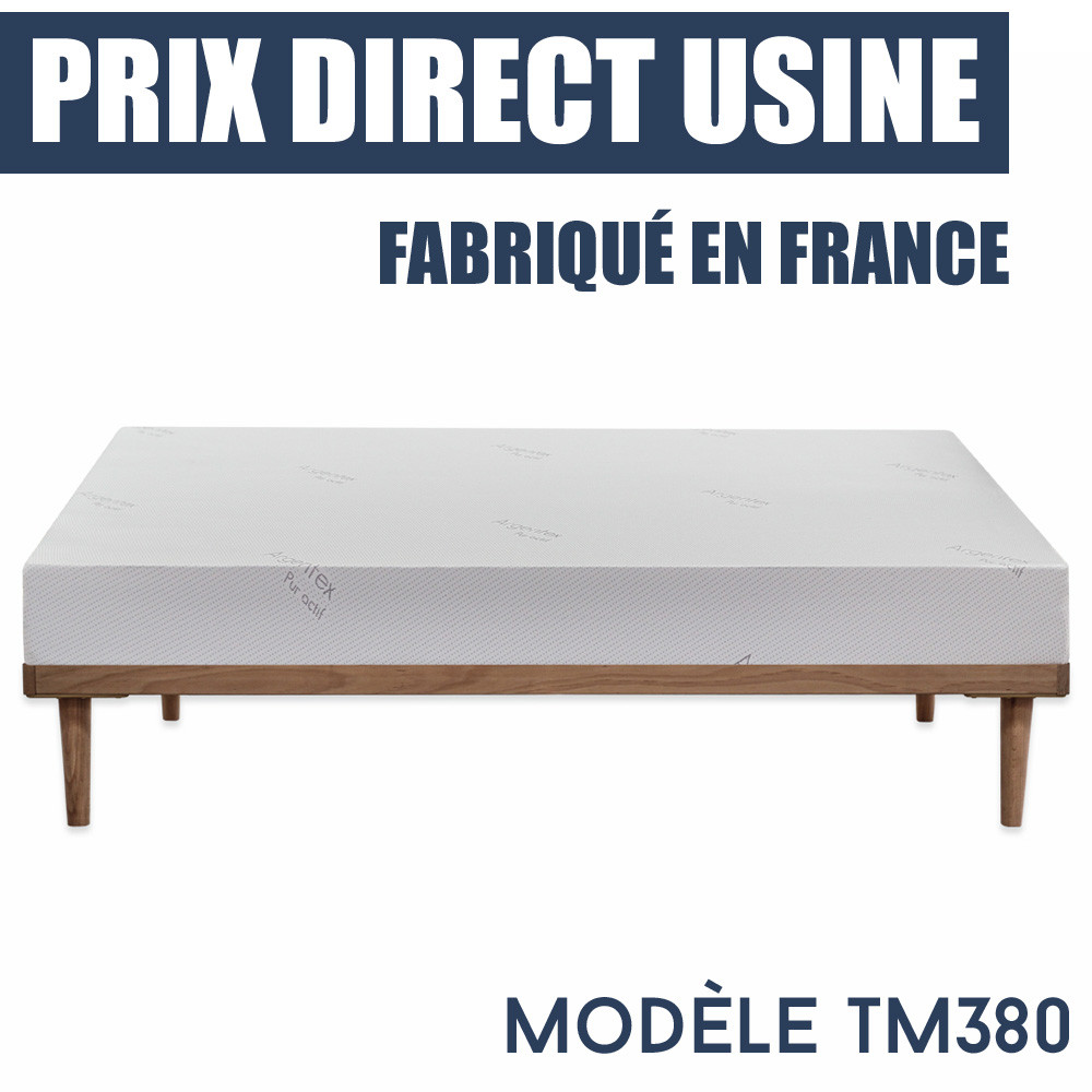 matelas m moire de forme tm380 prix imbattable. Black Bedroom Furniture Sets. Home Design Ideas
